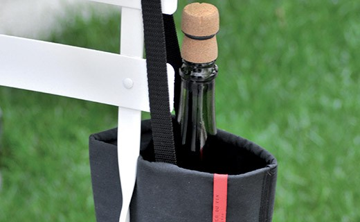 Black bottle cooler bag - L'Atelier du Vin