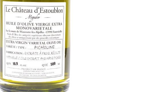 Extra virgin olive oil - Picholine 100% - Château d'Estoublon