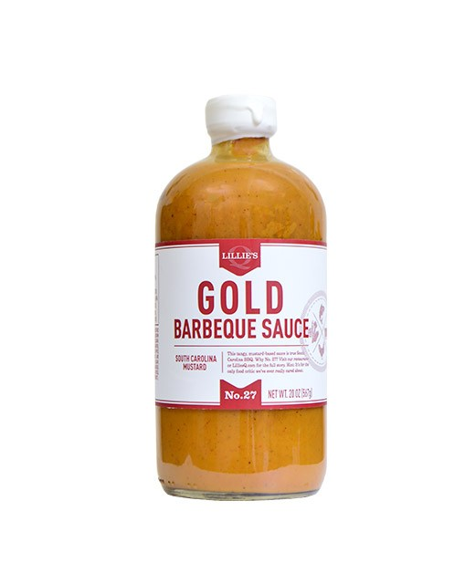 Gold South Carolina Mustard BBQ Sauce - Lillie's Q