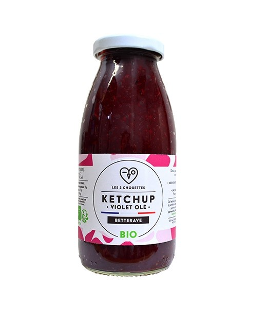 Beetroot ketchup - Violet olé - Les 3 Chouettes