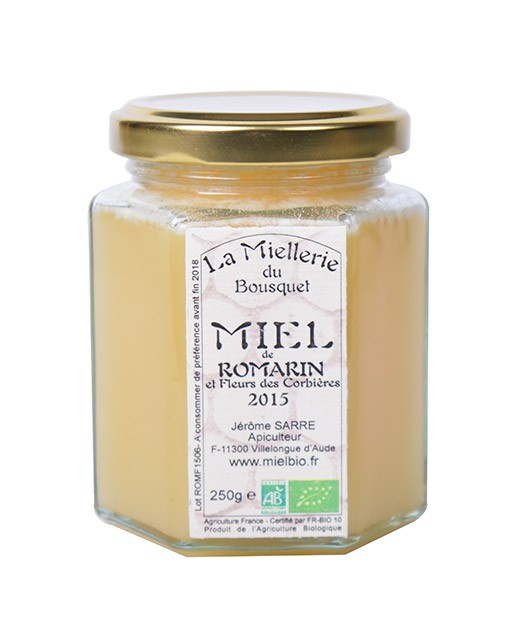 Organic Rosemary honey - Miellerie du Bousquet