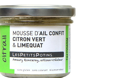 Garlic confit with lime and green pepper spread - Les Petits Potins