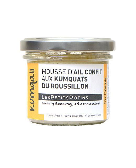 Candied garlic mousse with Roussillon kumquats - Kumqail - Les Petits Potins