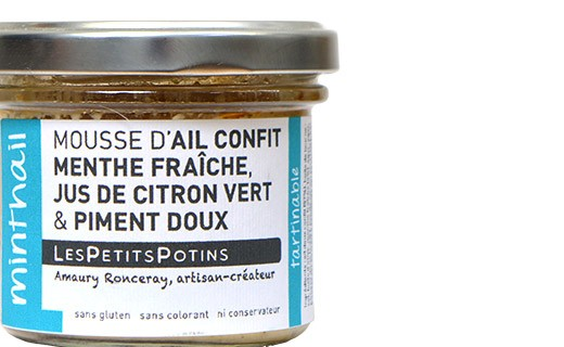 Garlic confit with fresh mint spread - Les Petits Potins