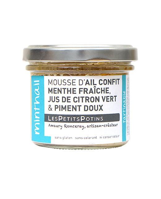 Garlic confit with fresh mint spread - Les Petits Potins