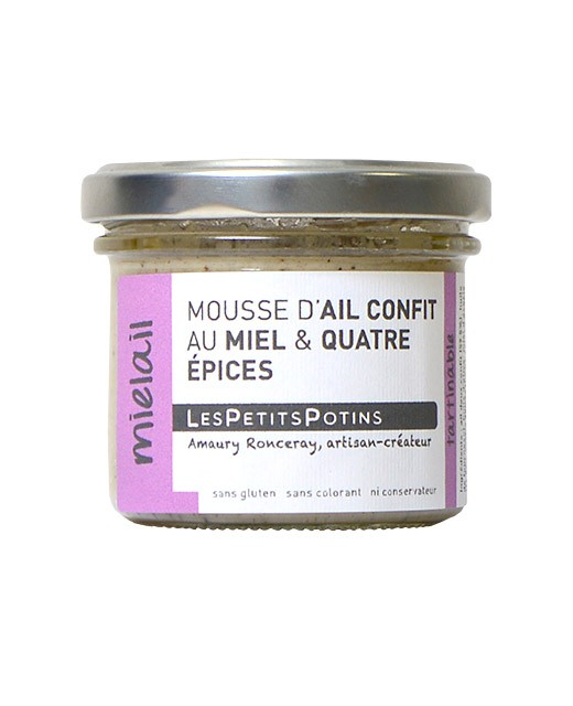 Candied garlic mousse with honey and four spices - Les Petits Potins