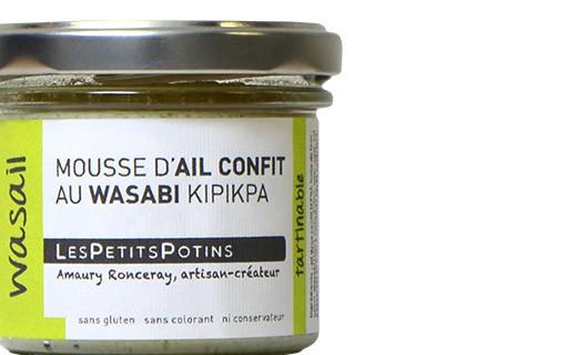 Garlic confit with mild Wasabi - Les Petits Potins
