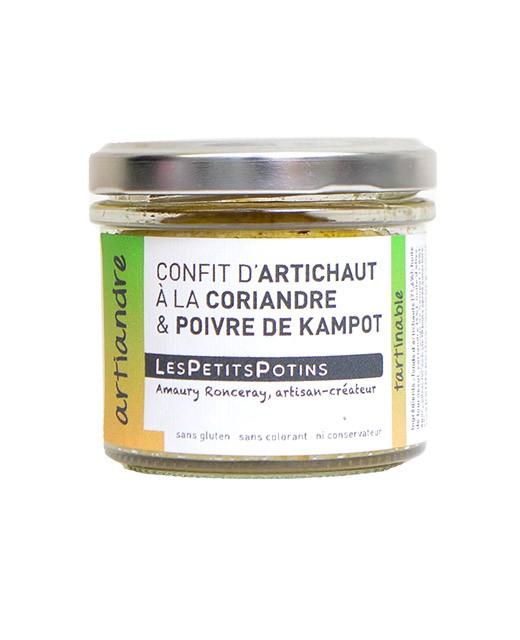 Artichoke confit with coriander and Kampot pepper - Artiandre - Les Petits Potins