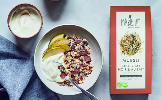 Muesli with dark and milk chocolate - Marlette