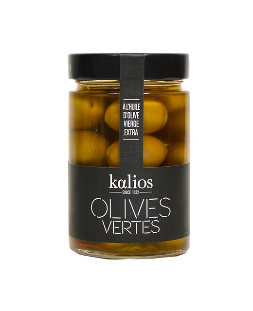 Green olives in extra-virgin olive oil - Kalios