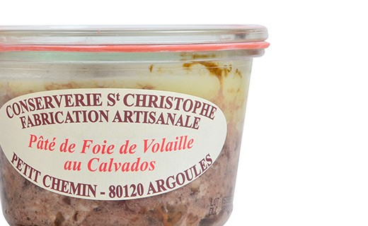 Poultry liver pâté with Calvados - Conserverie Saint-Christophe