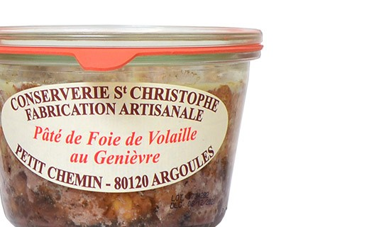 Chicken liver pâté with Genièvre - Conserverie Saint-Christophe