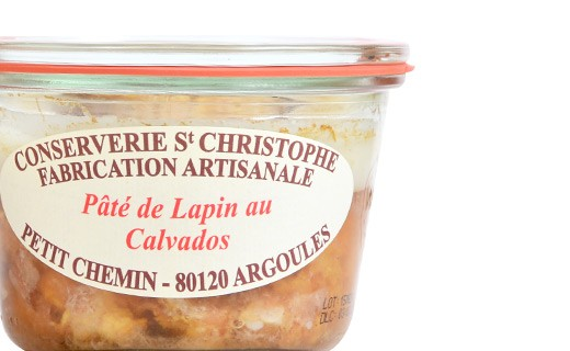 rabbit pâté with Calvados - Conserverie Saint-Christophe