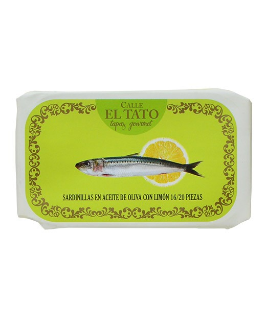 Little sardines in olive oil and with lemon - Calle el Tato