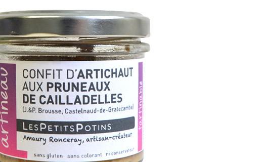 Artichoke confit with prunes - Artineau - Les Petits Potins