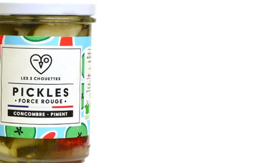 Cucumber pickles with chilli - Force Rouge - Les 3 Chouettes