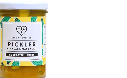 Courgette pickles with curry - Tralala Massala - Les 3 Chouettes