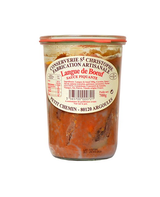 Ready-made meal: beef tongue with spicy sauce - Conserverie Saint-Christophe