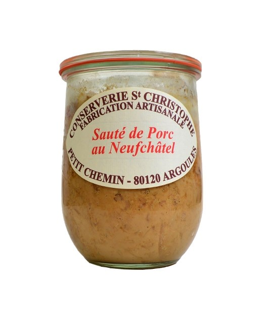 Ready-made deal: Sautéed pork with Neufchâtel - Conserverie Saint-Christophe