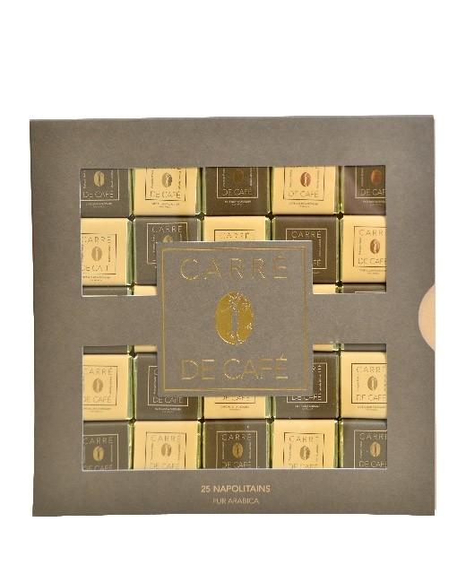 Napolitain squares of pure Arabica coffee x25 - Pralus
