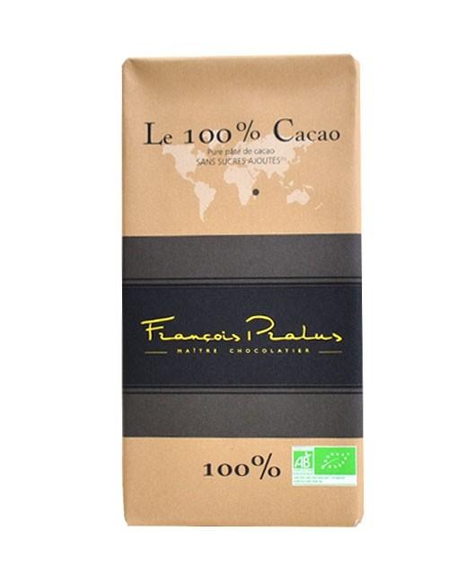 Dark Chocolate bar 100% cocoa - Madagascar - organic - Pralus