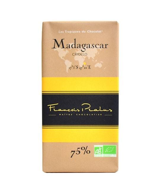 Dark chocolate bar 75% Madagascar bio - Pralus