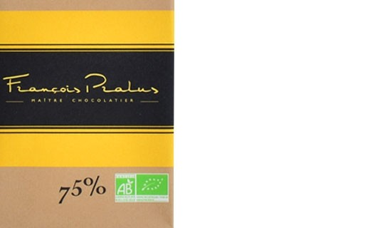 Dark chocolate bar 75% Madagascar bio - Pralus