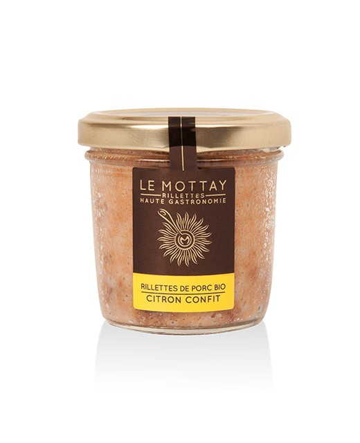 Organic pork rillettes with candied lemon - Le Mottay Gourmand