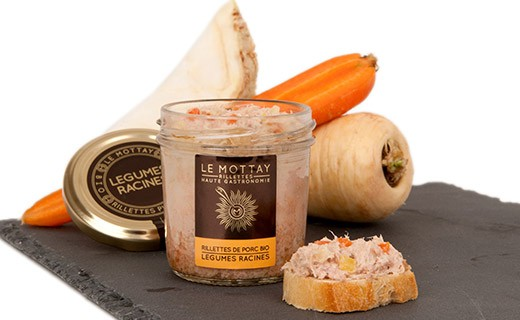 Organic pork rillettes with root vegetables - Le Mottay Gourmand