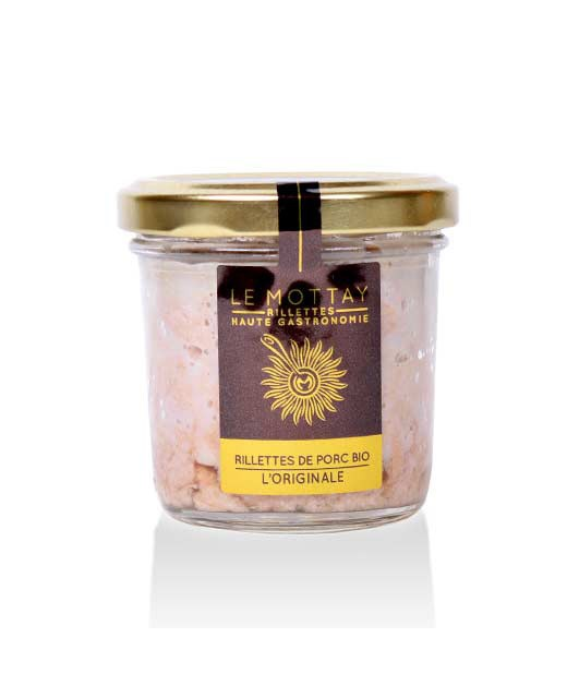 Pork rillettes original - organic - Le Mottay Gourmand