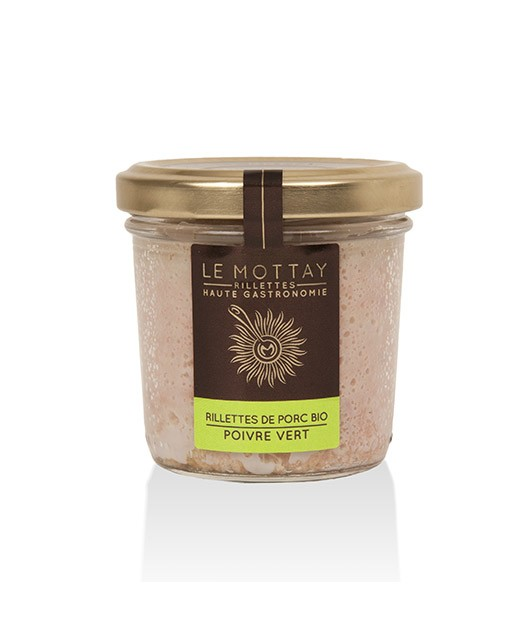 Organic pork rillettes with green pepper