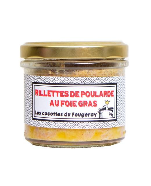 Hen rillettes with foie gras - Comptoir Fougeray