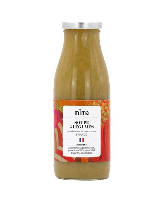 Organic soup of 5 vegetables - Mima Bio