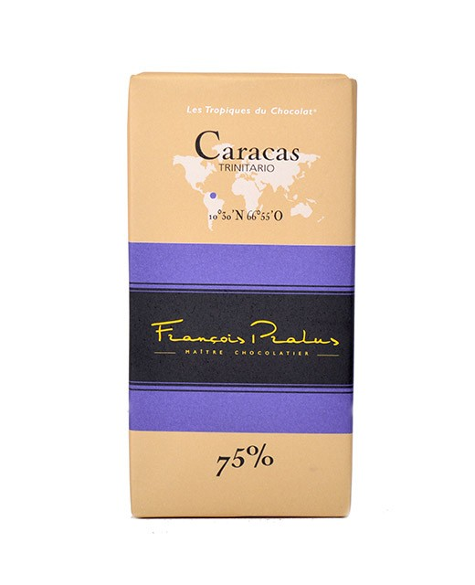 Dark chocolate bar Caracas - Pralus