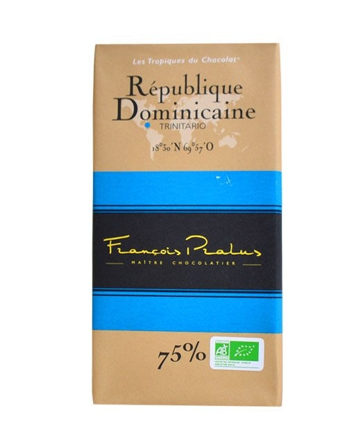 Dark Chocolate bar - Dominican Republic - organic - Pralus