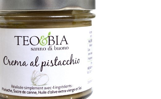 Spread - organic pistachio cream - Teo & Bia