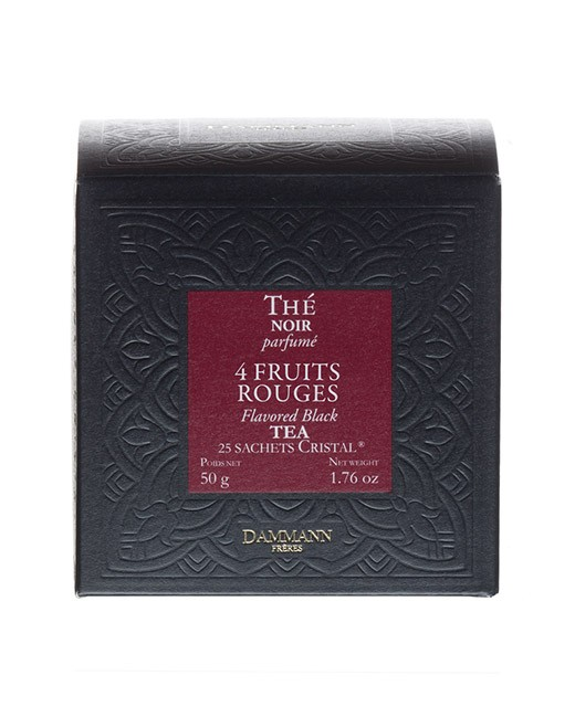 4 red fruits Tea - cristal sachets - Dammann Frères