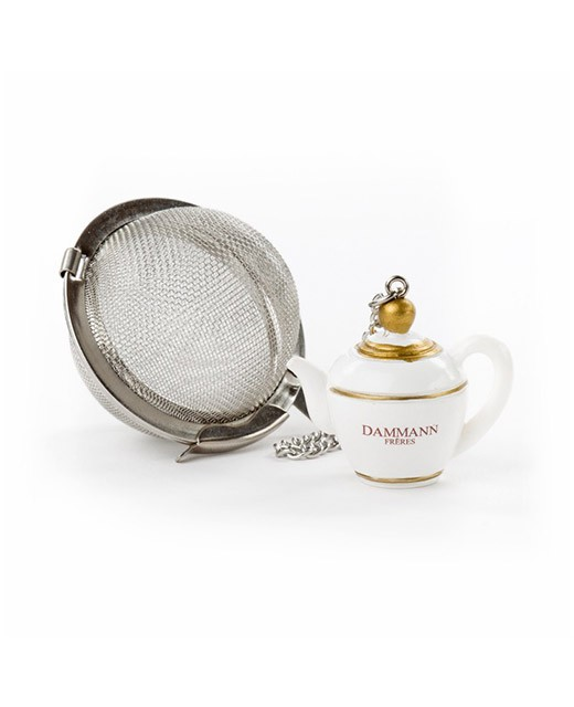 Teapot patterned tea ball - Dammann Frères