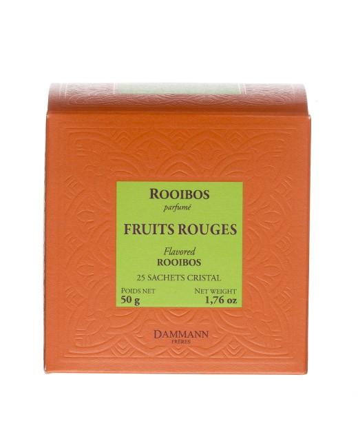 Rooibos Fruits Rouges Tea - cristal sachets - Dammann Frères
