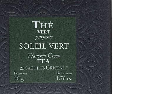 Soleil Vert tea - cristal sachets - Dammann Frères