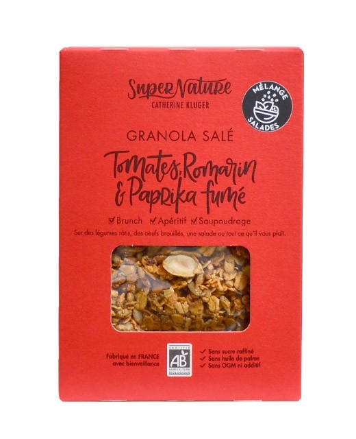 Salted granola with tomatoes, rosemary and smoked paprika - Organic - Catherine Kluger