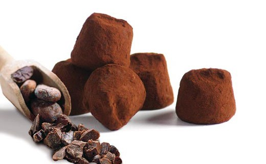 Chocolate Truffles - with cocoa bean bits - Mathez