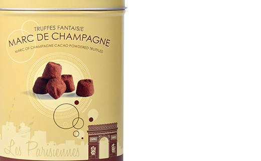Chocolate truffles - Marc de Champagne - Collection Les Parisiennes - Mathez