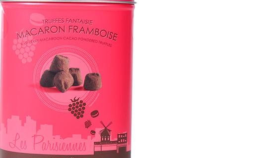 Chocolate truffles - Raspberry Macaroon - Collection Les Parisiennes - Mathez