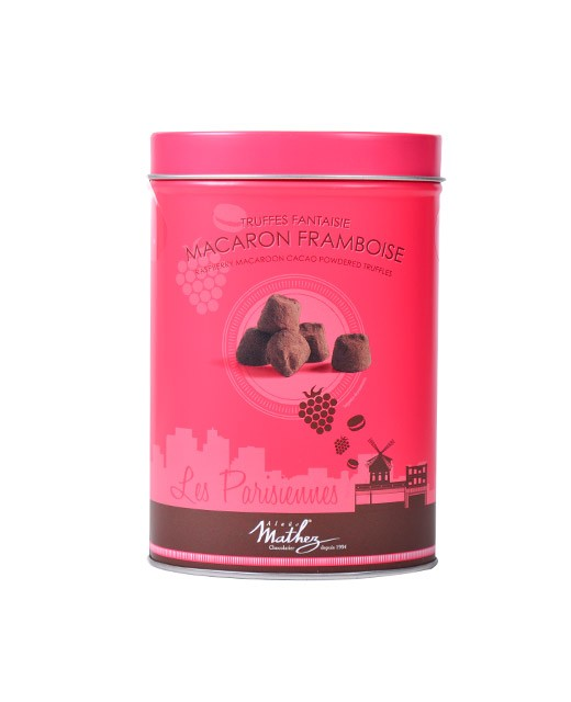 Chocolate truffles - Raspberry Macaroon - Collection Les Parisiennes - Mathez