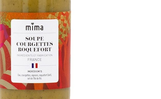 Organic courgette and Roquefort soup - Mima Bio